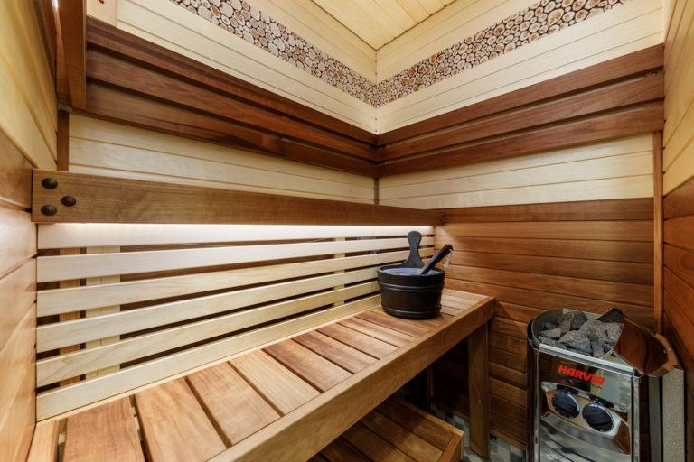 Huoneistossa on sauna